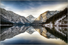 Gallery print  Lake Plan at wintertime, Austria - Frank Fischbach