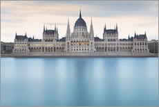 Wall sticker  Hungarian Parliament with Danube, Budapest - Frank Fischbach