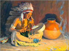 Gallery print  The chief song - Eanger Irving Couse