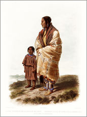 Wall Sticker  dacota woman - Karl Bodmer