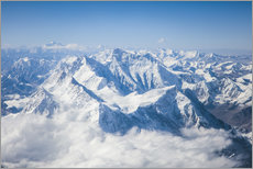 Gallery print  Aerial view of mount Everest, Himalaya - Matteo Colombo