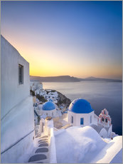 Wall sticker  Sunrise over the blue roofs of Santorini - Jan Christopher Becke