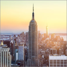 Wall sticker  Empire State Building in New York City at sunset - Jan Christopher Becke