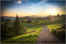 Wall Stickers  Seiser Alm in the morning, South Tyrol - Frank Fischbach