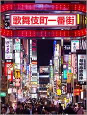 Wall sticker  Colorful neon signs in Shinjuku district in Tokyo, Japan - Jan Christopher Becke