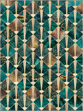 Wall sticker  Art Deco Tiles   Ocean - Elisabeth Fredriksson