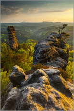 Gallery print  Saxon Switzerland - Sunset - Mikolaj Gospodarek