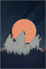 Gallery Print  Howling Moon - Romina Lutz
