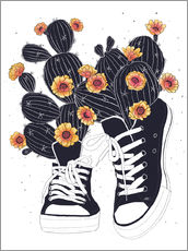Valeriya Korenkova - Sneakers with cactus
