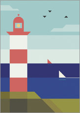 Wall sticker  Lighthouse - Antony Squizzato