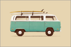 Wall Stickers  Blue Van - Florent Bodart