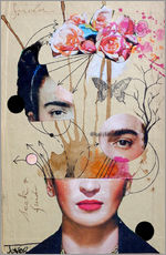 Wall Stickers  frida for beginners - Loui Jover