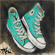 Gallery print  My turquoise shoes - Loui Jover