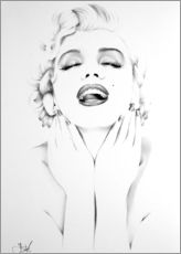 Gallery print  Marilyn Monroe - Ileana Hunter