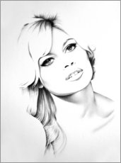Canvas print  Brigitte Bardot - Ileana Hunter