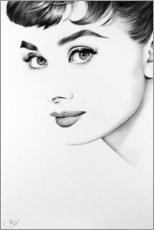 Canvas print  Audrey Hepburn - Ileana Hunter