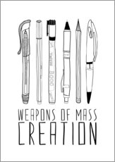 Gallery print  Weapons Of Mass Creation - Bianca Green