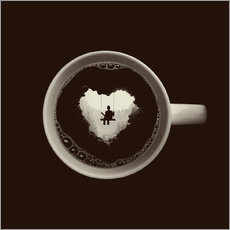 Wall Stickers A heart for coffee
