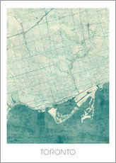 Wall sticker  Toronto Map Blue - Hubert Roguski