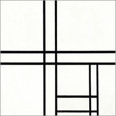 Gallery print  Composition in White, Black, and Red - Piet Mondriaan