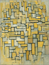 Wall sticker  composition in brown and gray no ii - Piet Mondrian
