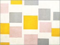 Wall sticker  composition with color planes 5 - Piet Mondrian