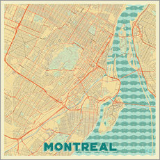 Wall sticker  Montreal Map Retro - Hubert Roguski