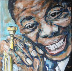 Wall sticker  What a Wonderful World, Louis Armstrong - Christel Roelandt