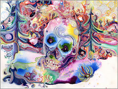 Gallery print  A Skull in the Forest - Josh Byer
