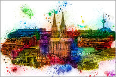 Wall Stickers  Cologne Skyline Cologne Cathedral - Peter Roder