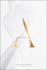Premium poster  GOLD LETTER COLLECTION A - Stephanie Wünsche