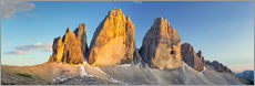 Wall sticker  The three pinnacles, Dolomites - Rainer Mirau