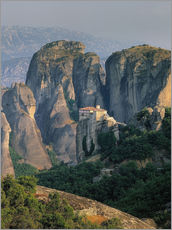 Wall sticker  Roussanou Monastery in Thessaly, Greece - Thonig