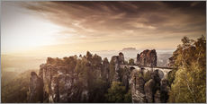 Wall Stickers  View to the bridge of the Basle in Saxon Switzerland - Jörg Simanowski