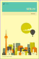 Wall Stickers BERLIN TRAVEL POSTER