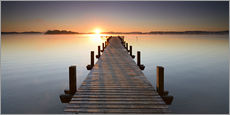Gallery print  Footbridge at sunrise - Andreas Vitting