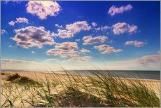 Gallery print  Blue sky with clouds on Texel - Beate Margraf