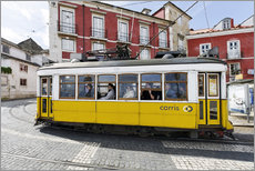 Wall sticker  Historic trams in the Alfama district - Axel Schmies