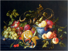 Wood print  A Still Life of Fruit - Cornelis de Heem
