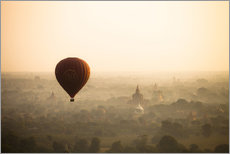 Wall sticker  Aerial view of the balloon over the ancient temples in Myanmar - Harry Marx