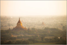 Gallery print  Aerial view of the ancient temples in Myanmar - Harry Marx