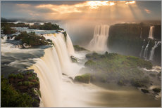 Wall sticker  Sunset at Iguazu Falls - Alex Saberi