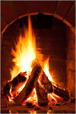 Gallery print  Wood in the fireplace