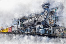 Wall sticker  Steam locomotive Durango and Silverton Narrow Gauge Railroad - Colorado - USA - Peter Roder