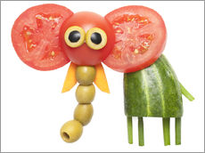 Wall Stickers  Vegetable animals - elephant