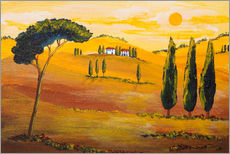 Wall sticker  Sunshine in Tuscany in the Morning - Christine Huwer