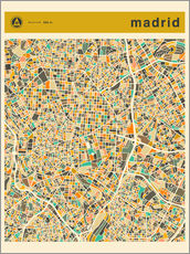 Gallery print  Madrid map - Jazzberry Blue