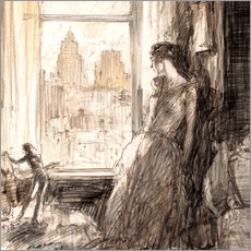 Wall sticker  View from the window - Henri Patrick Raleigh