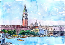 Gallery print  Venice Serenissima with St. Marks Bell Tower and Doge Palace - M. Bleichner