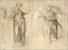Wall sticker  The Annunciation to Mary - Michelangelo